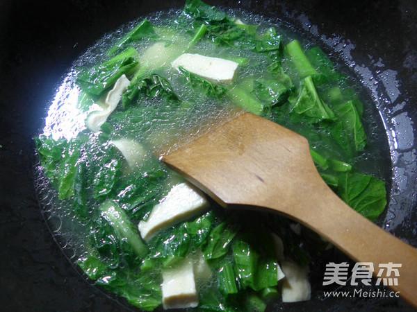天菜芯素鸡羹的做法