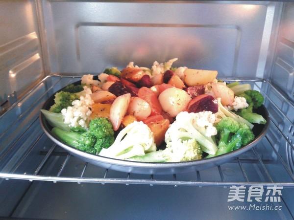 香烤五菜时蔬的做法