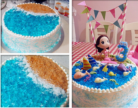 海洋主题生日蛋糕步骤22-24