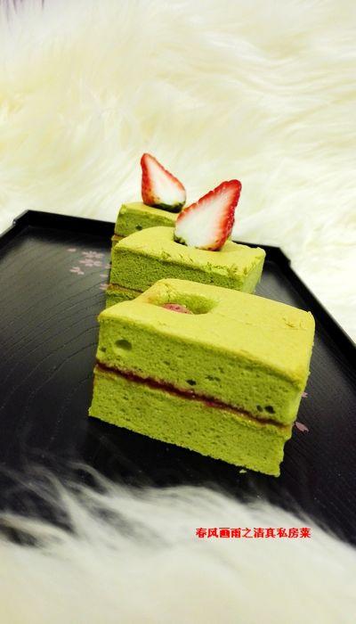抹茶<a href=/shicai/guopin/CaoMei/index.html target=_blank><u>草莓</u></a>酱三明治