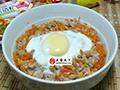 鸡蛋胡萝卜蒸肉末的做法