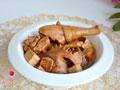 焖炖鸡肉豆腐干的做法