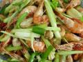 韭黄河虾的做法