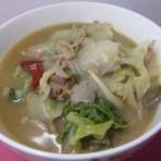 蘑菇白菜炒肉丝
