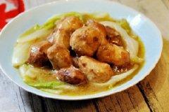 鸡汤虎皮芋儿白菜的家常做法