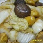 冬菇板栗烧白菜的做法