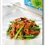 嫩牛蒜苔的做法