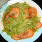 青萝卜炒虾