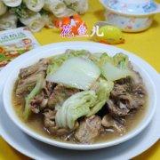 白菜煮鸡骨架的做法
