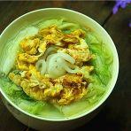 鸡蛋青菜土豆粉的做法