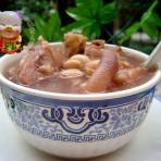 花生眉豆煲猪手的做法