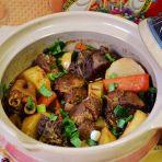 山药砂锅焖羊肉