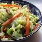 白菜烩粉丝的做法