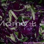 紫椰菜青椒腐皮丝的做法