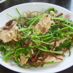香菜茶树菇炒里脊