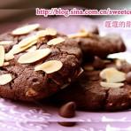 杏仁巧克力豆曲奇的做法