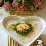 莲藕虾仁粥的做法