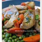 洋蓟胡萝卜烩豌豆的做法