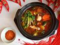 鸡汤杂蔬麻辣火锅的做法