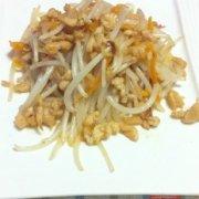 陈皮鸡丝炒掐菜的做法