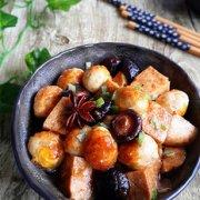香菇冻豆腐烧鹌鹑蛋的做法