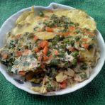 豆角红萝卜煎蛋