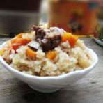 胡萝卜排骨糯米饭的做法