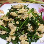 黄蛤肉炒鸡蛋韭菜