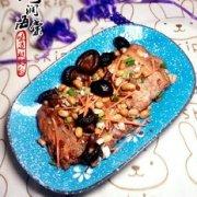 三文鱼排炖黄豆的做法