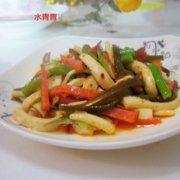 芹菜烤肠海带咝的做法