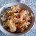 胡萝卜玉米蛋炒饭的做法