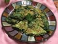 芹菜叶摊鸡蛋的做法