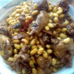 鸡榨豆子的做法