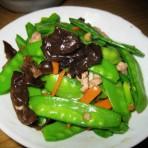 肉末炒荷兰豆