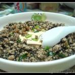 肉松发菜扒豆腐