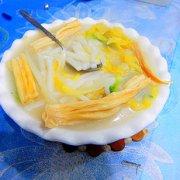白菜腐竹年糕的做法
