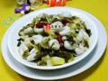 雪菜笋尖炒目鱼蛋的做法