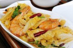 白菜炒虾的家常做法