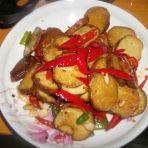 辣椒炒素鸡