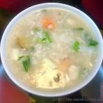鱼茸虾粥的做法