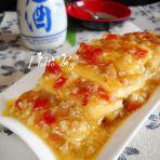 辣椒浇汁脆皮豆腐