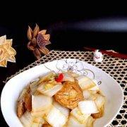 糖醋面筋白菜的做法