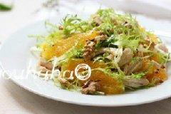 橙肉沙拉的家常做法
