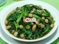 花生米炒油麦菜的做法
