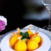 土豆泥芝士虾球的做法