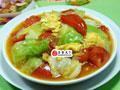 番茄鸡蛋炒圆白菜的做法