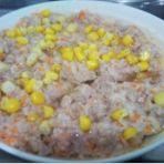 红萝卜马蹄蒸肉饼