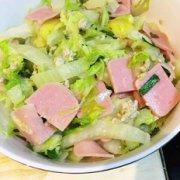 白菜炒火腿的做法