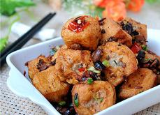 春节年夜饭菜谱:油豆腐塞肉