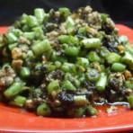 榄菜肉松豆角的做法